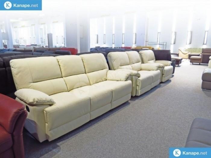 Buffalo Fehér Bőr Relax kanapé 3-2-1 szettben